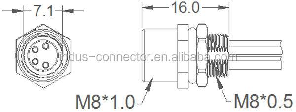 screw type sensor underwater connector ip68 pcb panel