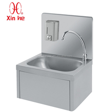 Knee Operated Commercial Hand Wash Sink for Commercial Use, Stainless Steel Knee Operated Hand Sink Hand Wash Basin