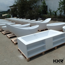 Custom Made Polymer Stone Freestanding Black Bath Tub From Kingkonree