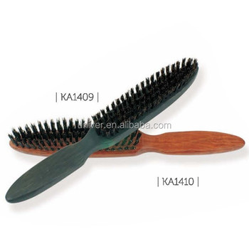 Wooden Handle Massage Paddle Bristle Hair Brush KA1409-KA1410