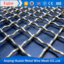 Top quality square decorative Stainless Steel Woven crimped wire mesh