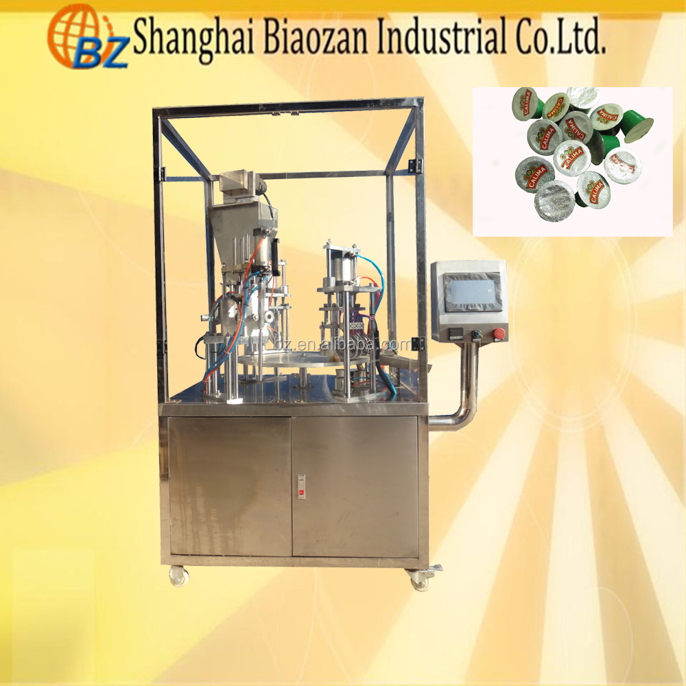 Automatic Tea Cup Tray Sealer Paper Cup Filling And Sealing Machine K Cup Machine