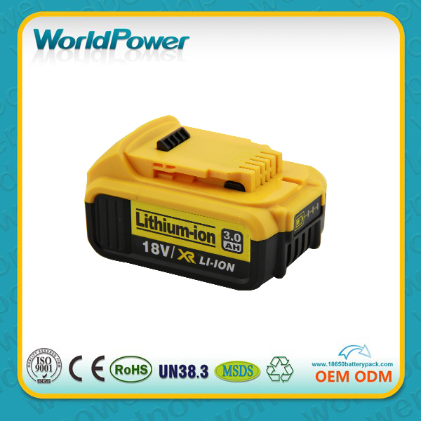 Replacement 18v 4Ah Lithium-ion battery Dewalt 18 volt cordless drill rechargeable lithium battery