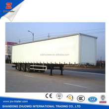 China Manufacturer Supply For 3 Axles Dry Van Box Semi Trailer Hot Sale