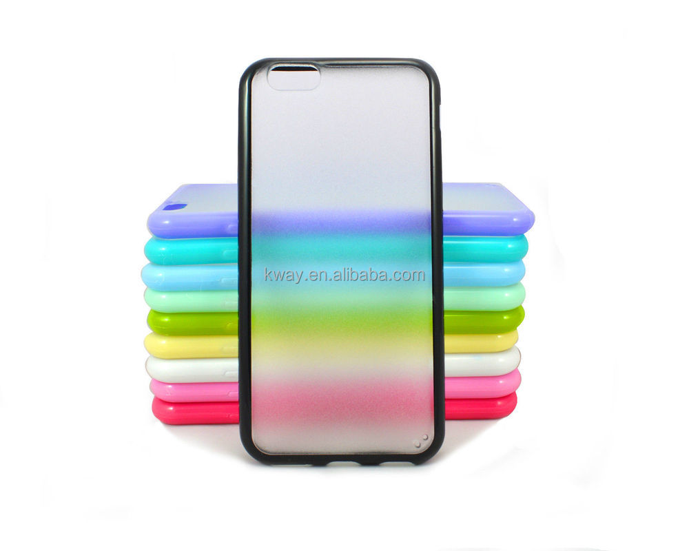Matte Clear Hard PC Back with TPU PC Thin Case Cover For Samsung galaxy S7 / s6 edge S5 note 4 5