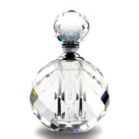 Wholesale beautiful custom crystal glass perfume bottle for gift