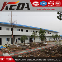 Two Storeys Panelized Low Cost Prefab House As Site Labor Camp Accommodation