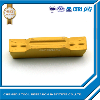 PVD coated carbide cutting tool groove insert