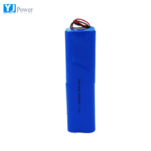 3.7v 8000mah 18650 2s4p li-ion rechargeable battery pack for torch light