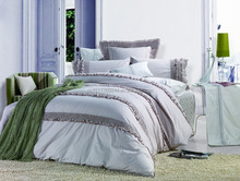 3pcs embroidery bed sheet quilt cover