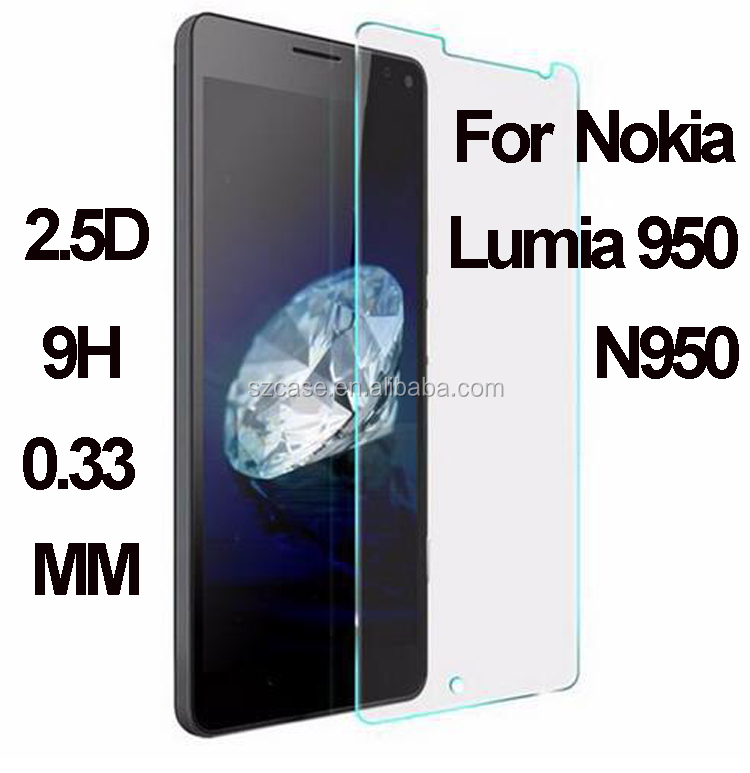 For Nokia Lumia 950 N950 Newest Screen Protector / Best Tempered Glass Screen Protector 9H Hardness