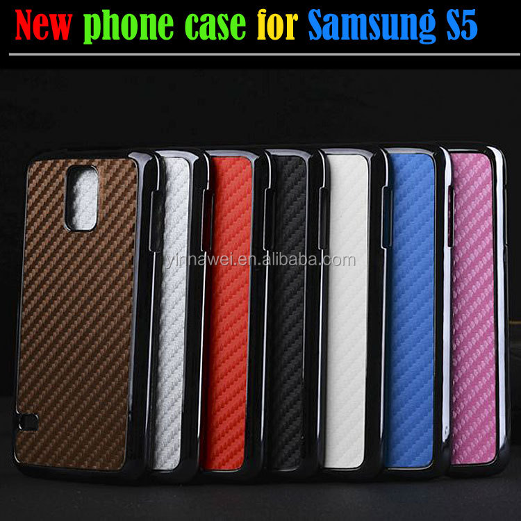 custom cell phone cover carbon fiber case for Samsung GALAXY S5 i9600