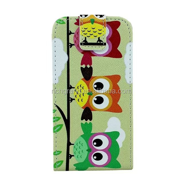 Ultra thin flip cute cartoon design pu leather protective case cover for Samsung galaxy s5 i9600