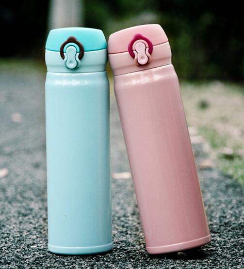 Premium quality cute design eco-friendly double wall Insulated 304 stainless steel travel coffee cups thermos flask vacuum mugs