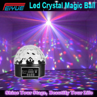 China Supplier Led Crystal Magic Ball Light 9 Color Dmx Led Stage Ball Light Disco Party Light