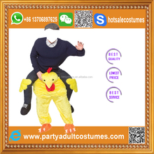 Lyjenny Polyester Spandex Halloween Man Ride on Make Adult Inflatable Chicken Costumes With Embroidery Logo