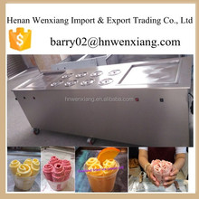Large capacity ice cream machine / Fry ice cream machine with double pan made in china