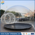 0.55mm Durable PVC inflatable bubble tent with tunnel FOR SALE from China manufacturer