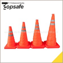 Waterproof fluorescent fabric foldable road traffic cone
