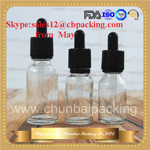 empty clear unicorn e liquid 30ml glass dropper bottles wholesale with childproof and tamper evident cap 15ml