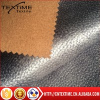 polyester fake leather fabric for sofa bonding fake leather furniture fabric