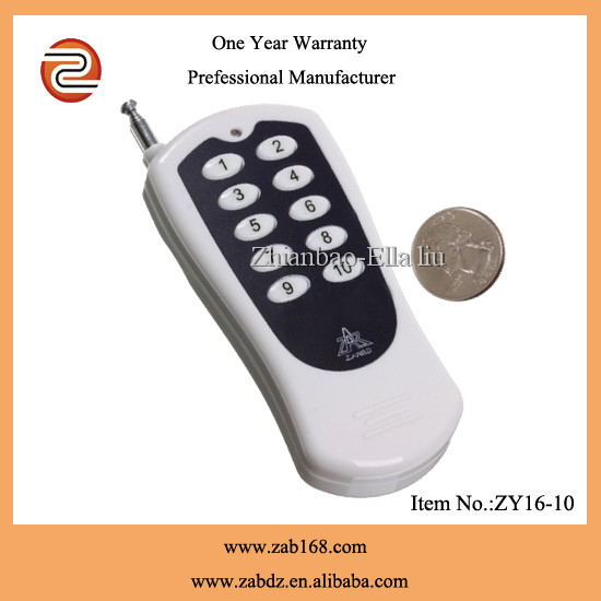 Ten buttons/keys Long range wireless universl RF remote control(ZY16-10)