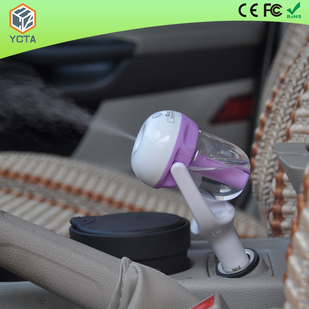 Hot selling portable car humidifier diffuser aromatherapy car air cleaner