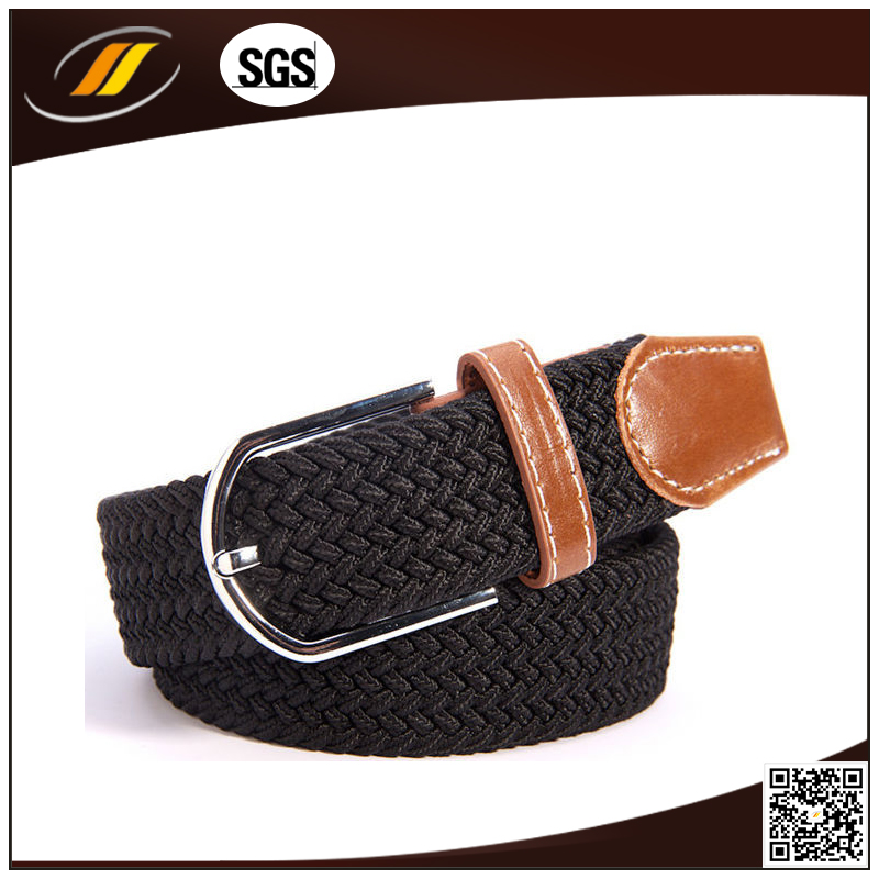 High Quality Fabric Elastic Stretch Braided Belt for Man and Woman