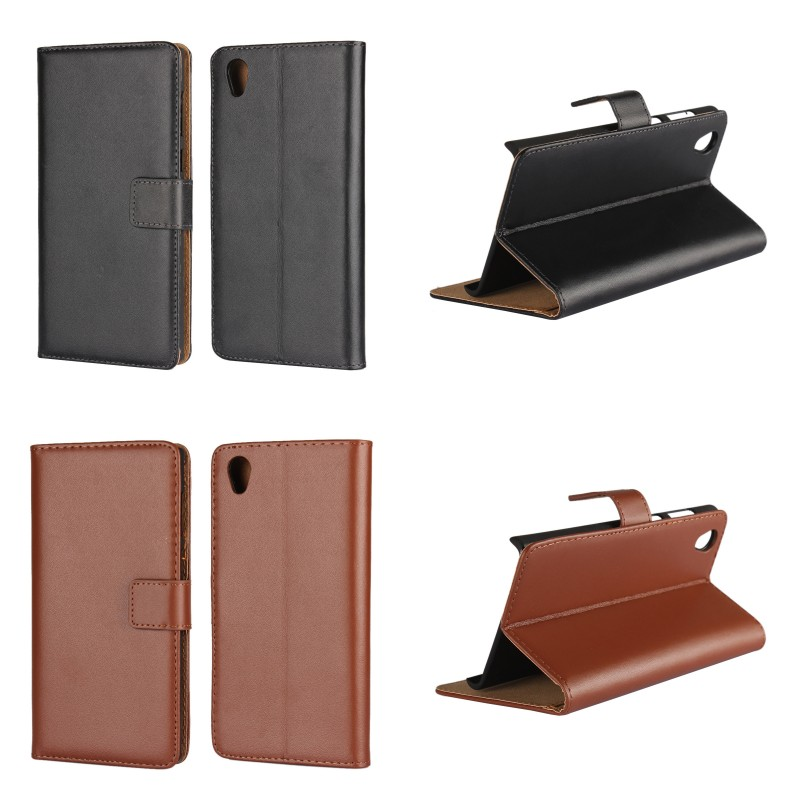 Free Samples Hard PC Frame Case PU Leather Wallet Case Phone Cover For Sony Xperia L1 Phone Accessory