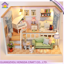New Arrival DIY Wooden doll House miniature furniture for child