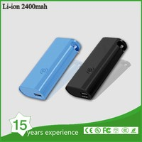 2400mAh Universal Portable Power Bank 18650 USB Charger External Battery Pack for mobile phone