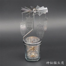 2018 top quality aluminum animal shape rotary candle holder