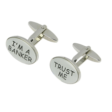 Trust me career financial advisor banker cufflinks