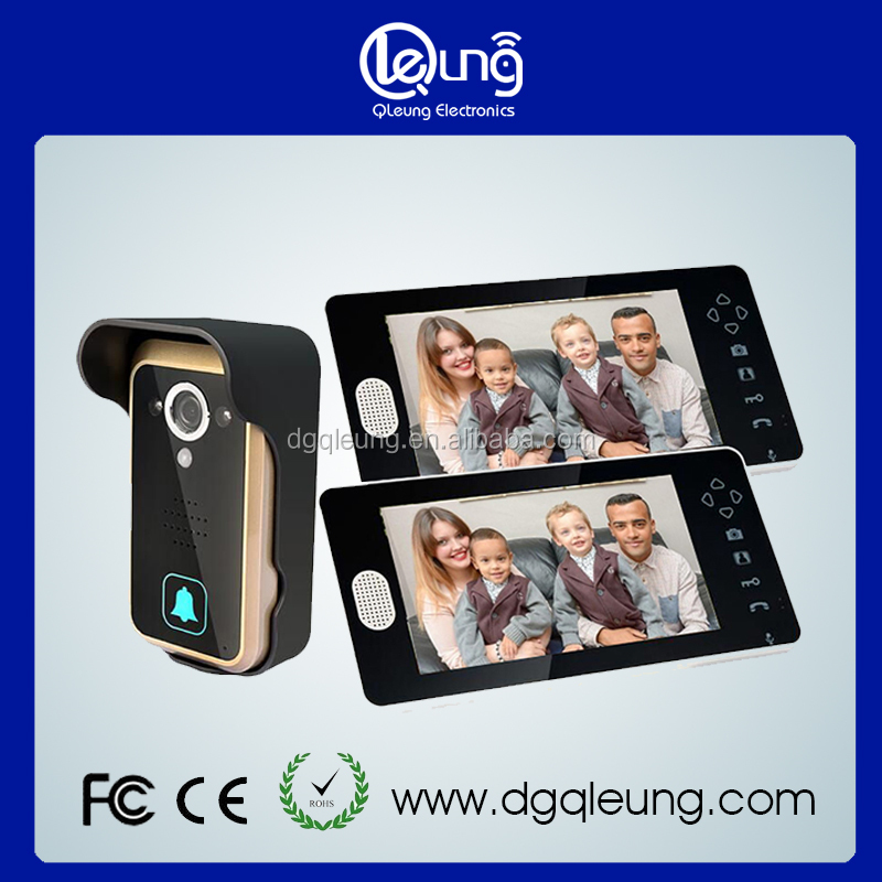 7 Inch video door phone 1v2 Wireless door phone video intercom