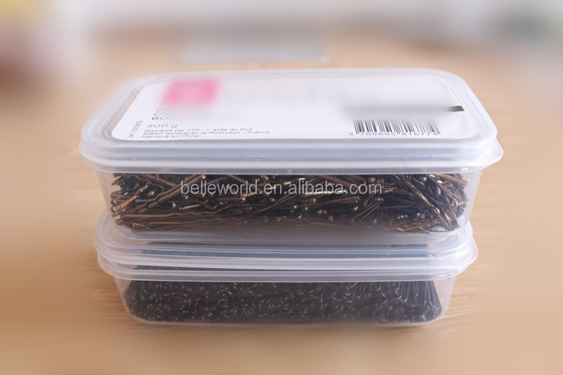 Factory Custom 500g Environmental Palstic Box Metal Hair Pin