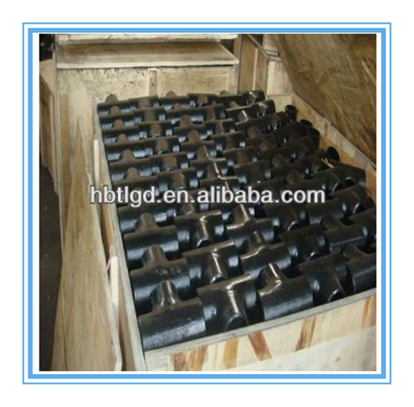 pipe connection seamless steel tee equal tee and reducing tee joint section