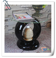 Hot Sale resin modern top glass coffee table