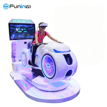 New design cool appearance with vr helmet VR motor car racing car arcade ride game machine for sale