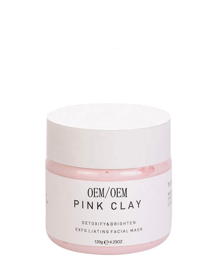 Organic Pink Clay Face Mask Private Label Clay Mask Rose Clay Mask For Facial Treatment