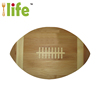 American football bamboo cutting board rugby shape bamboo board kitchen wholesale custom cutting board