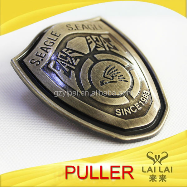 Fashionable custom 3d logo metal medal parts label badges luggage parts and accessories