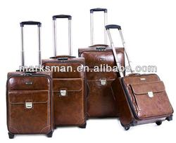4pcs set leather PU carry-on luggage