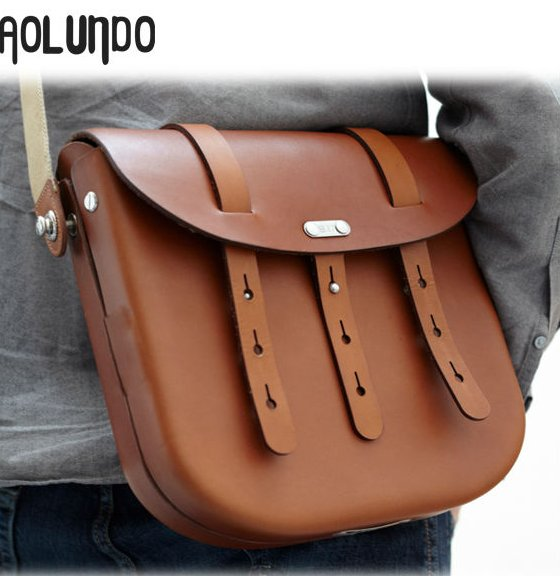 Stylish Classical Design Cheap Wholesale Price Men Leather Bike Bag