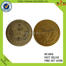 customed university logo stamping coin manufacturers
