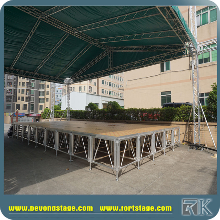 Aluminum speaker truss stand/used light truss stand with aluminum stage platform