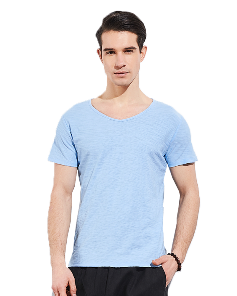Cheap Pure Colors <strong>T</strong>-<strong>shirt</strong> Men Slim fit 100%Cotton Tops March EXPO