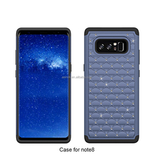 Best Seller Mobile Phone Silicon PC Diamond 3 in 1 Case Phone Cover for Samsung Galaxy Note 8