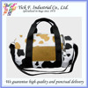 Lovely High Quality Cow Pattern Printed Canvas Duffel Bag