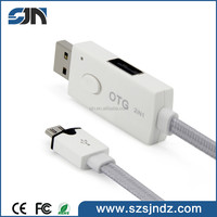 2 in 1 otg usb for Android/iOS mobile devices accept fast orders