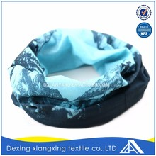 Create oem customize landscape painting fashion multifunctional black bandana scarf